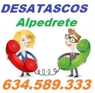 Telefono de la empresa desatascos Alpedrete
